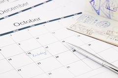 Holiday planning Stock Photography