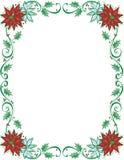 Holiday Poinsettia Frame Royalty Free Stock Photos