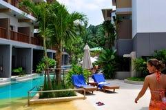 Holiday at the pool Royalty Free Stock Photos
