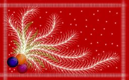 Holiday postcard for the new year stock illustration