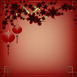 Holiday postcard to the Chinese New Year 2015 Royalty Free Stock Image