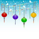 Holiday postcard to the Chinese New Year 2015. Greeting postcard to the Chinese New Year 2015. Vector illustration Stock Photography