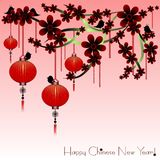 Holiday postcard to the Chinese New Year 2015 Royalty Free Stock Photography