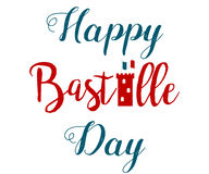 Holiday poster for Bastille day with tower Stock Photo