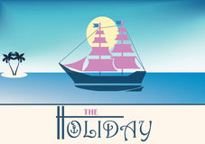 The holiday poster Royalty Free Stock Images