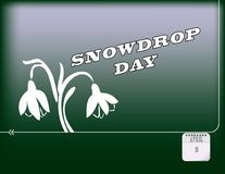 Happy Snowdrop Day. Holiday poster for Happy Snowdrop Day. Vector Stock Images