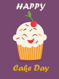Holiday poster for International Cake Day. Bright holiday poster for International Cake Day Stock Photos