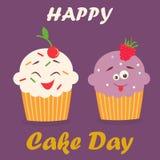 Holiday poster for International Cake Day. Bright holiday poster for International Cake Day Vector Illustration