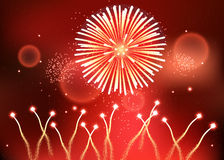 The holiday powerful fireworks,eps 10 Royalty Free Stock Photo