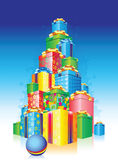 Holiday present. New Year holiday present pyramid Stock Illustration