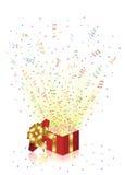 Holiday Present. Open magic Gift box, illustration Stock Photos