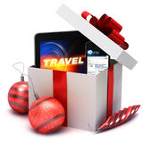 Holiday present with electronic gifts Stock Photography