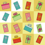 Holiday Presents. These colorful, holiday presents are just waiting to be opened on Christmas day. Use together, as a border or individually. A retro 50s Stock Photos