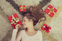 Holiday presents Stock Photography