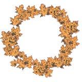 Wreath of autumn leave. prints of maple leaves. sale vector illustration