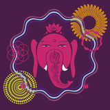 Ganesh holiday print with many details Royalty Free Stock Photography