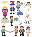Holiday and Professional Cartoon People Illustration Stock Photo