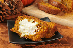 Holiday pumpkin bread Royalty Free Stock Images