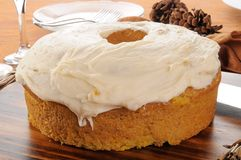 Holiday pumpkin cake Royalty Free Stock Image