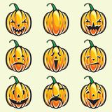 Holiday pumpkin jack lantern collection Stock Photography