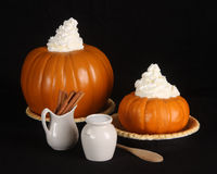 Holiday pumpkin pie ingredients Stock Image