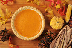 Holiday pumpkin pie Stock Images