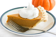 Holiday Pumpkin Pie Slice Royalty Free Stock Image