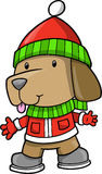 Holiday Puppy Dog Vector. Illustration Stock Images