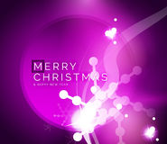 Holiday purple abstract background, winter Stock Image