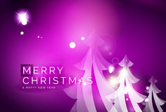 Holiday purple abstract background, winter. Snowflakes, Christmas and New Year design template, light shiny modern vector illustration Royalty Free Stock Photo