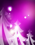 Holiday purple abstract background, winter. Snowflakes, Christmas and New Year design template, light shiny modern vector illustration Stock Photo