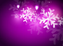 Holiday purple abstract background, winter Stock Photography