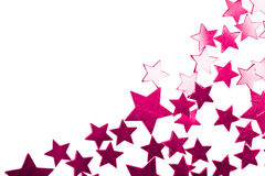 Holiday purple stars isolated Stock Photography