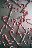 Holiday:Random Pattern Of Glass Candy Canes Royalty Free Stock Photos