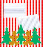 Holiday Recipe Layout Stock Photo