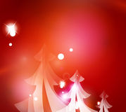 Holiday red abstract background, winter snowflakes. Christmas and New Year design template, light shiny modern vector illustration Royalty Free Stock Images
