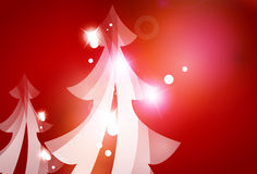 Holiday red abstract background, winter snowflakes Stock Images