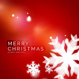 Holiday red abstract background, winter snowflakes Stock Photography