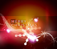Holiday red abstract background, winter snowflakes Royalty Free Stock Images