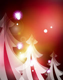 Holiday red abstract background, winter snowflakes Royalty Free Stock Photos
