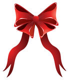 Holiday Red Bow Royalty Free Stock Photography