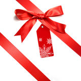 Holiday red bow isolated on white Stock Photography