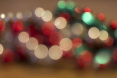 Holiday Red and Green Woven Bokeh Blur Background Royalty Free Stock Photos