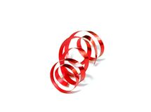 holiday red ribbon isolated on white Royalty Free Stock Image