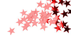 Holiday red stars stock image