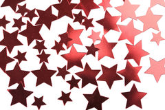 Holiday red stars background isolated Stock Photo