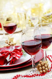 Holiday Red Wine Royalty Free Stock Images