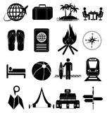Holiday relax travel icons set Royalty Free Stock Photography