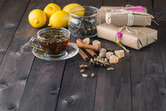 Holiday relaxation tea cup Royalty Free Stock Photography