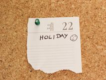Holiday reminder Royalty Free Stock Photography